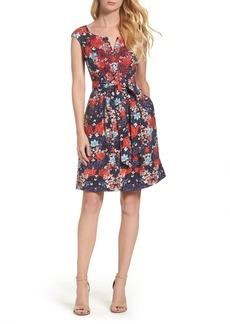 Adrianna Papell Linenette Fit & Flare Dress (Regular & Petite)