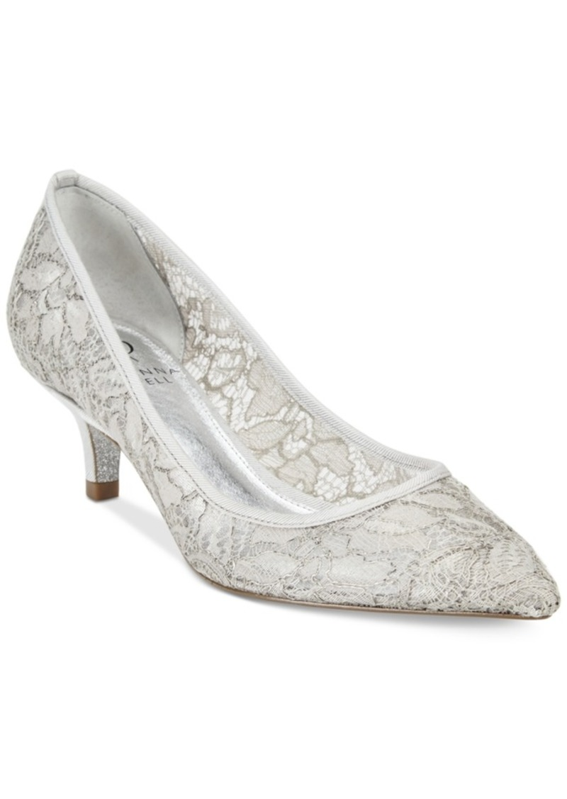 Adrianna Papell Lois Lace Evening Pumps Women's Shoes