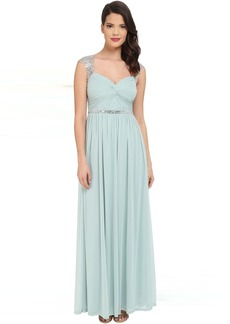 Adrianna Papell Long Gown with Beading Detail