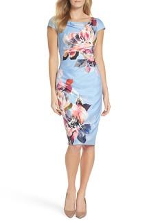 Adrianna Papell Magnolia Cowl Neck Sheath Dress (Regular & Petite)