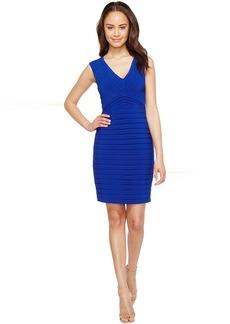 Adrianna Papell Matte Jersey Banded Sheath Dress
