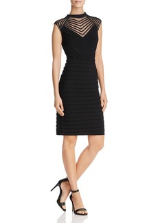 Adrianna Papell Mesh-Detail Sheath Dress