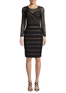 Adrianna Papell Mesh Illusion Matte Jersey Dress