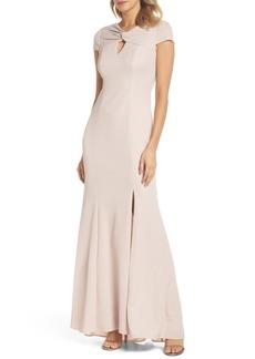 Adrianna Papell Metallic Knit Gown (Regular & Petite)