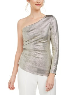 Adrianna Papell Metallic One-Shoulder Top