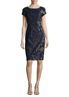 Adrianna Papell Metallic Sheath Dress