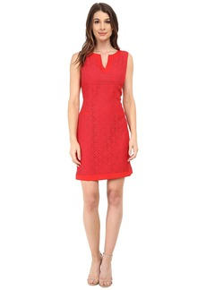 Adrianna Papell Mini Medallion Lace Shift Dress
