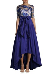 Adrianna Papell Missy Lace Hi-Lo Dress