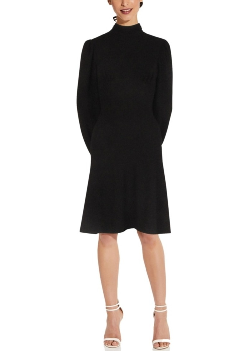 Adrianna Papell Mock-Neck A-Line Dress