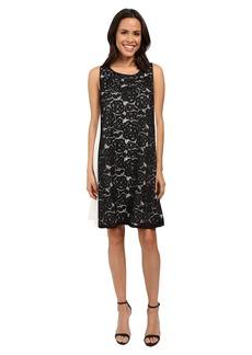 Adrianna Papell Mod Lace Insert Trapeze Dress
