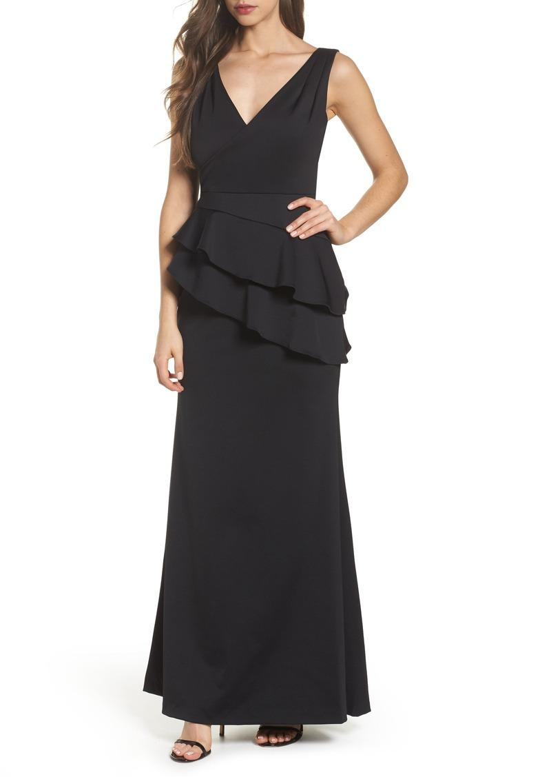 Adrianna Papell Adrianna Papell Neoprene Tiered Peplum Gown | Dresses