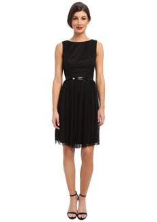 Adrianna Papell Net Tulle w/ Dots Fit & Flare Dress