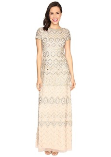 Adrianna Papell New Tribal Long T-Shirt Gown