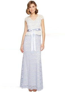 Adrianna Papell Nouveau Scroll Lace Gown