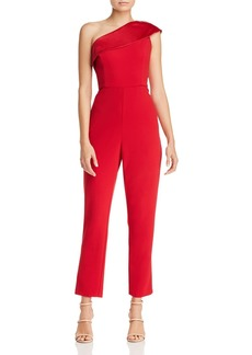 Adrianna Papell One-Shoulder Crepe Jumpsuit