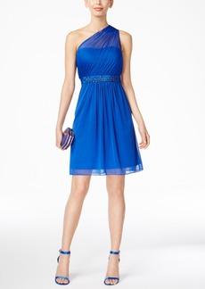 Adrianna Papell One-Shoulder Embellished Dress