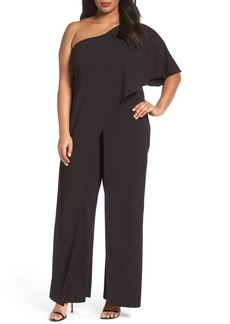 Adrianna Papell One-Shoulder Jumpsuit (Plus Size)