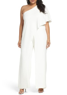 Adrianna Papell One-Shoulder Jumpsuit (Plus Size)