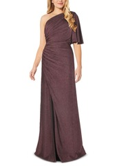 Adrianna Papell One-Shoulder Metallic Jersey Gown, Regular & Petite Sizes