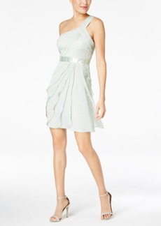 Adrianna Papell One-Shoulder Tiered Chiffon Dress
