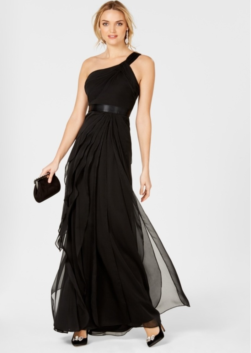 95bdf1ac9b8f3 Adrianna Papell Adrianna Papell One-Shoulder Tiered Chiffon Gown ...