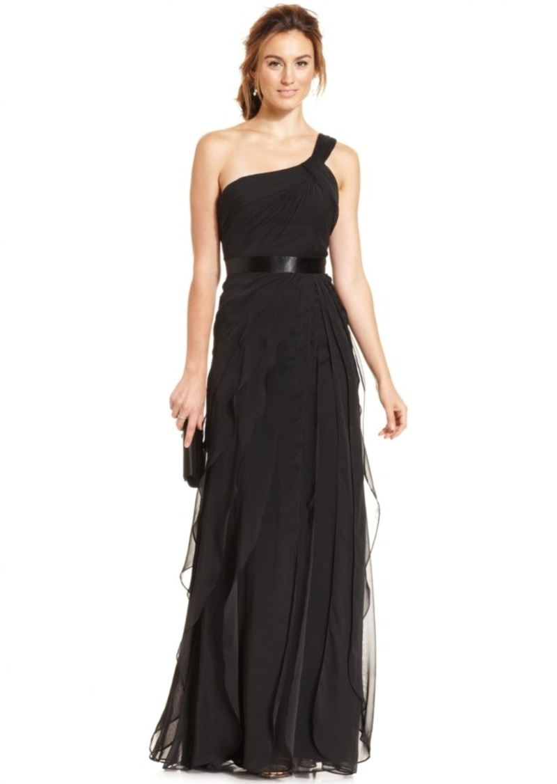 Adrianna Papell Adrianna Papell One Shoulder Tiered