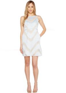 Adrianna Papell Organza Halter A-Line Dress