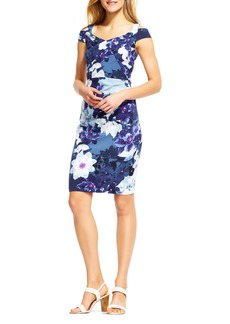 Adrianna Papell Origami Cold Shoulder Sheath Dress