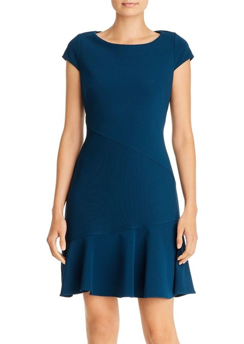 Adrianna Papell Ottoman Fit-and-Flare Dress