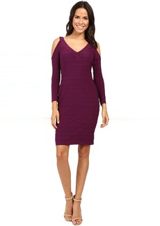 Adrianna Papell Partially Lined Matte Jersey Banded Sheath Dress