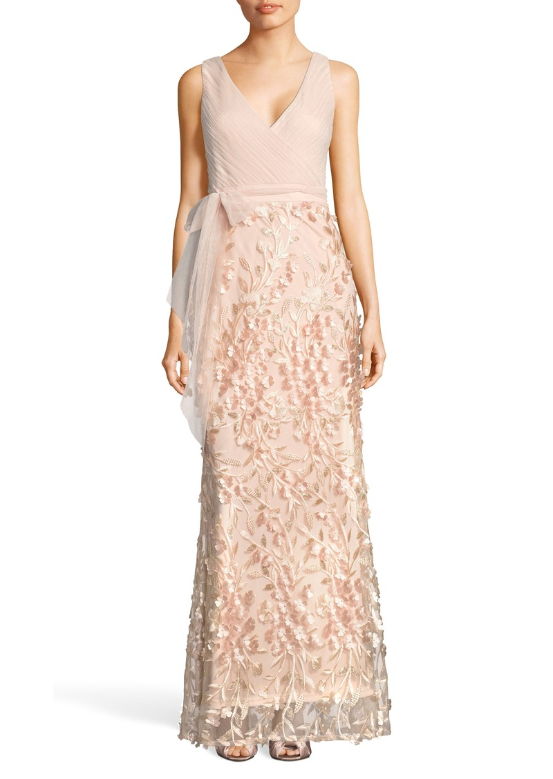 Adrianna Papell Adrianna Papell Petal Embellished Tulle Gown ...