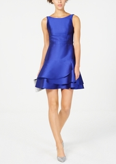 Adrianna Papell Open-Back Fit & Flare Dress