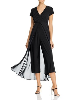 Adrianna Papell Pintucked Jumpsuit with Overlay