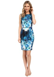 Adrianna Papell Placed Print Sheath Dress