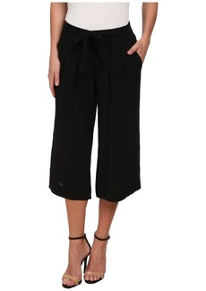 Adrianna Papell Pleated Culotte w/ Self Belt