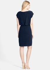 Adrianna Papell Pleated Jersey Blouson Dress