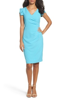 Adrianna Papell Pleated Sheath Dress