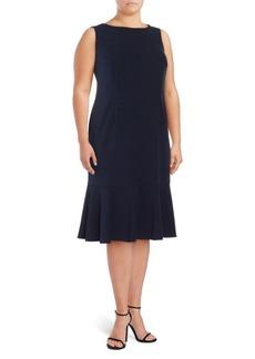 Plus Flounce Sleeveless Dress