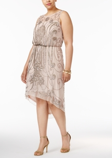 Adrianna Papell Plus Size Embellished A-line Dress