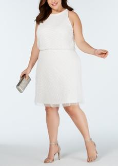 Adrianna Papell Plus Size Embellished Blouson Sheath Dress