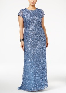 Adrianna Papell Plus Size Embellished Gown