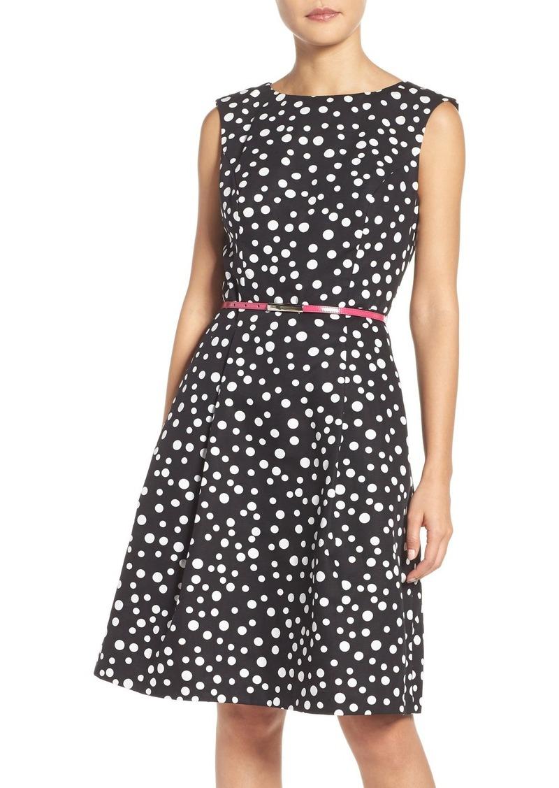 Adrianna Papell Polka Dot Fit & Flare Dress (Regular & Petite)