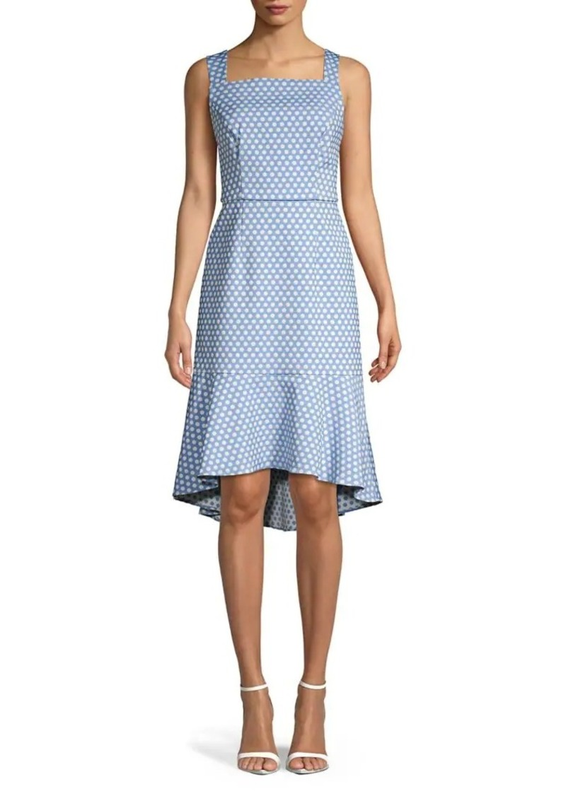 Adrianna Papell Polka Dot-Print Fit-&-Flare Dress