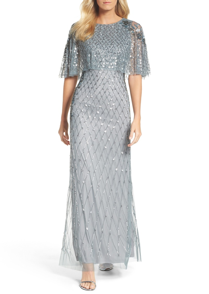 Adrianna Papell Adrianna Papell Popover Bodice Beaded Gown | Dresses