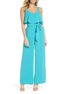 Adrianna Papell Popover Crepe Jumpsuit