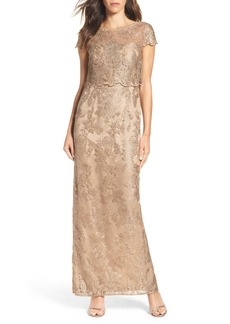Adrianna Papell Popover Gown (Regular & Petite)