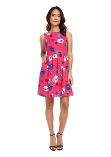 Adrianna Papell Poppies Printed Fit & Flare
