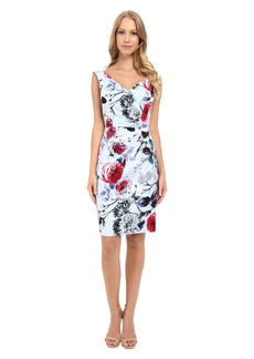 Adrianna Papell Portrait Neckline Dress w/ Side Drape