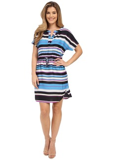 Adrianna Papell Print Dolman Sleeve Dress