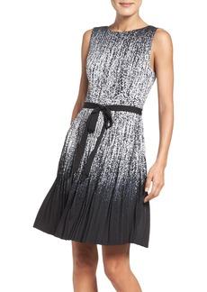 Adrianna Papell Pleat Fit & Flare Dress (Regular & Petite)